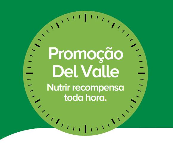 Promoção Del Valle nutrir recompensa toda hora