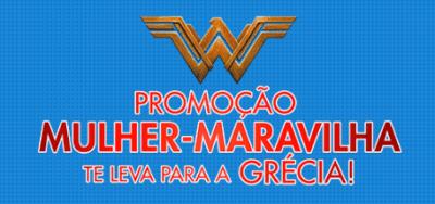 Promoção Saraiva Mulher-maravilha te leva para a Grécia
