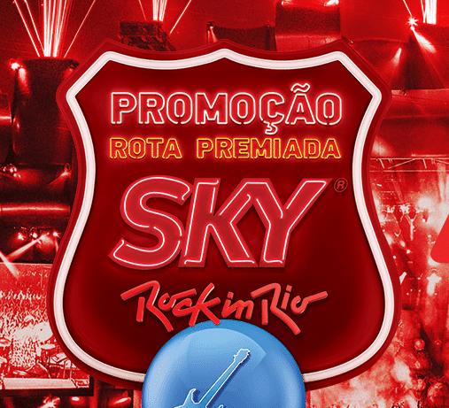 Promoção Rota Premiada Sky Rock In Rio 2017