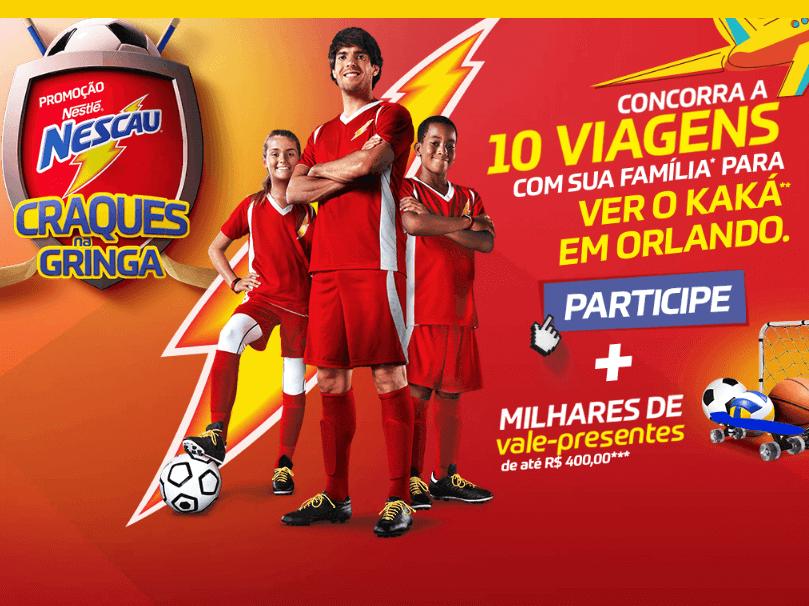 Promoção Nestlé Nescau Craques na Gringa