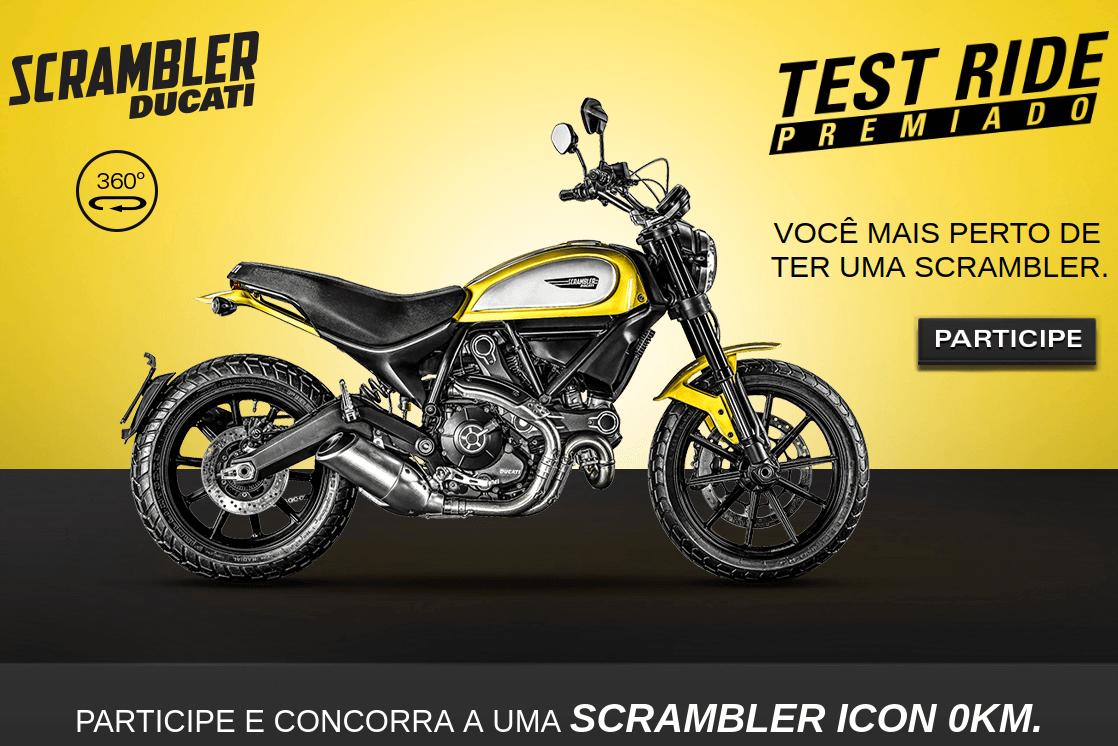 Promoção teste ride Ducati