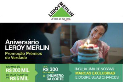 Promoção de Aniversário Leroy Merlin