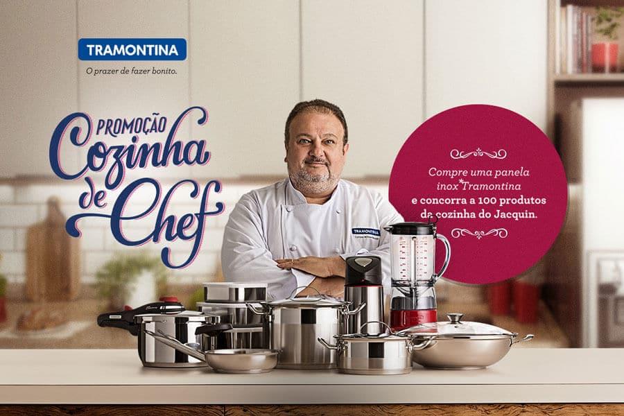 Promoção cozinha de chef Tramontina Ganhe kit com 100 produtos