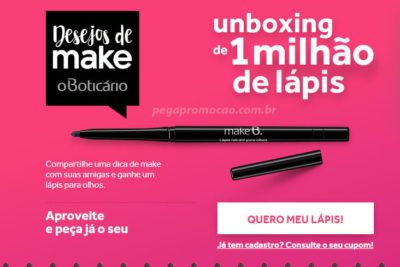 Promoção desejos de Make OBoticario
