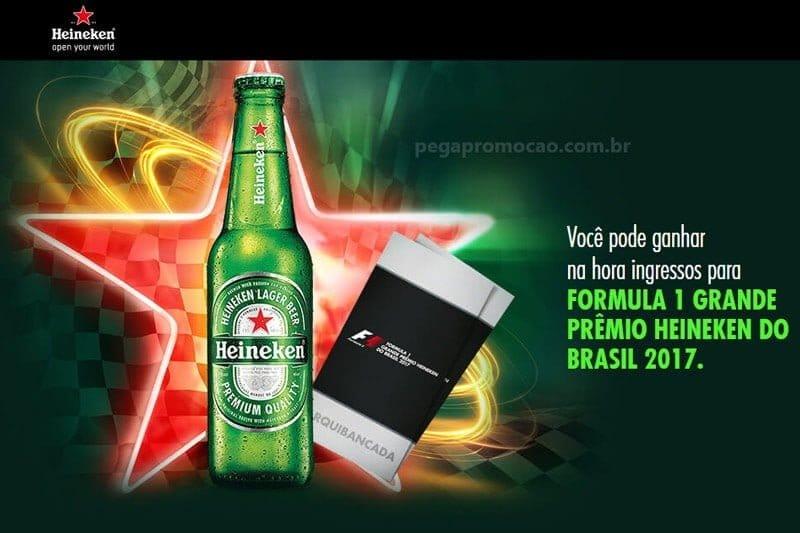 Promoção Heineken Formula 1 ingressos para o GP do Brasil 2017
