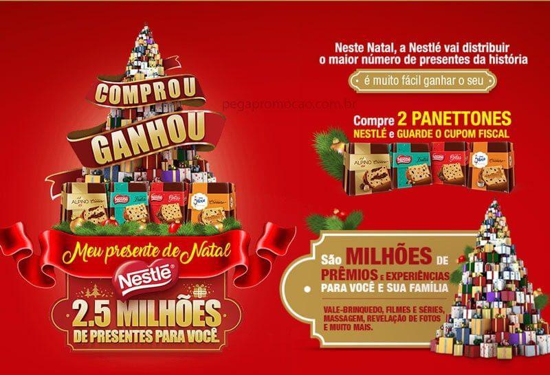 Promoção Meu presente de natal Nestlé