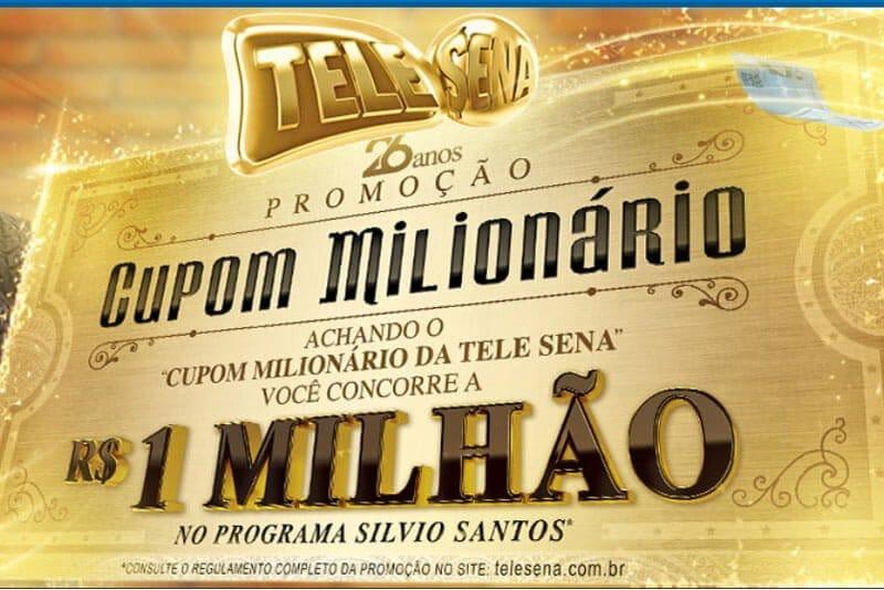 Promoção cupom milionário telesena