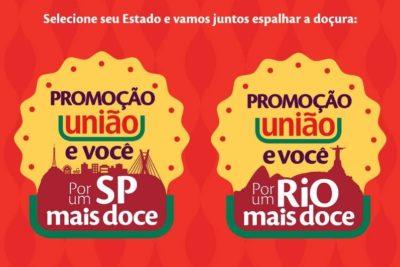 Promoção União e Você Por uma Cidade Mais Doce; Prêmios de até R$ 100 Mil