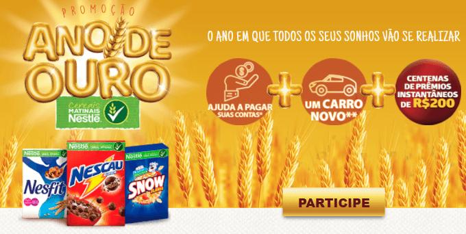 Promoção Ano de Ouro Cereais Nestlé