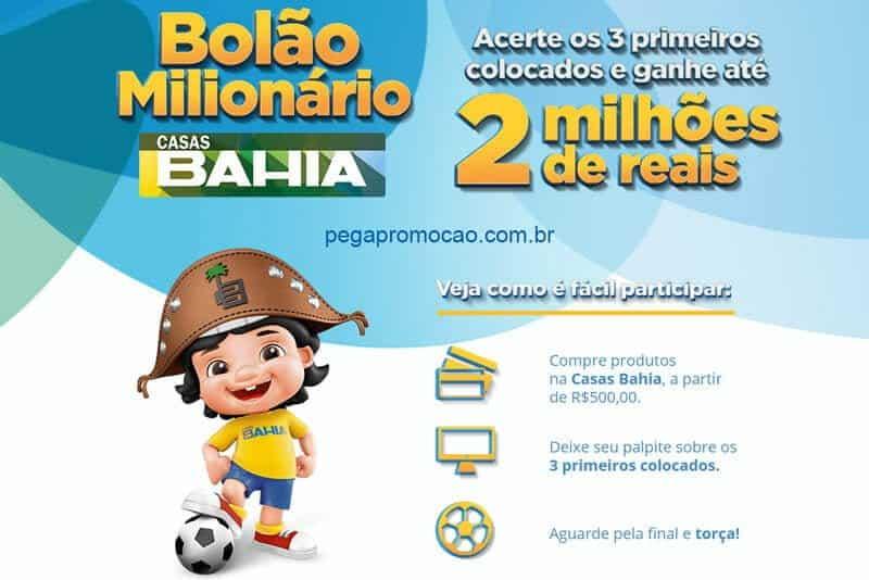Promoção Casas Bahia 2018 Bolão Milionário