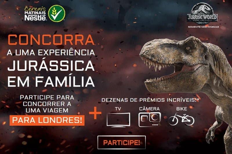 Promoção Cereal Nestlé Jurassic World 2018