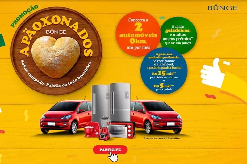 Promoção Bunge Apãoxonados. Concorra a carros, refrigeradores e mais