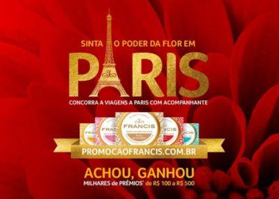 Promoção Sabonete Francis Sinta o Poder da Flor em París