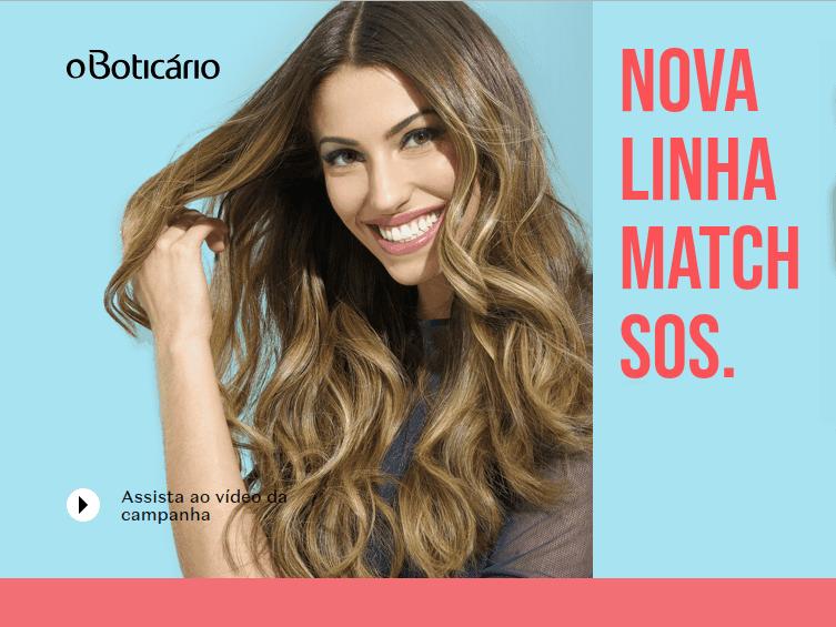Promoção Boticário 2018 - Linha Match