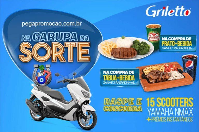 Promoção na Garupa da Sorte Griletto 2018
