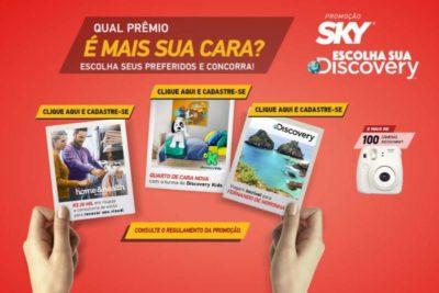 Promoção Sky 2018 Escolha a sua Discovery