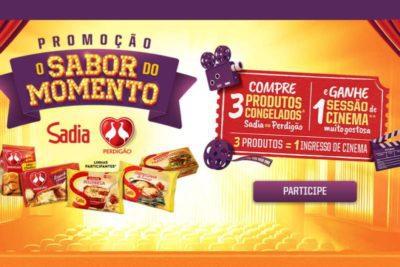 Promoção Sadia Sabor do Momento - Ganhe ingressos para o cinema