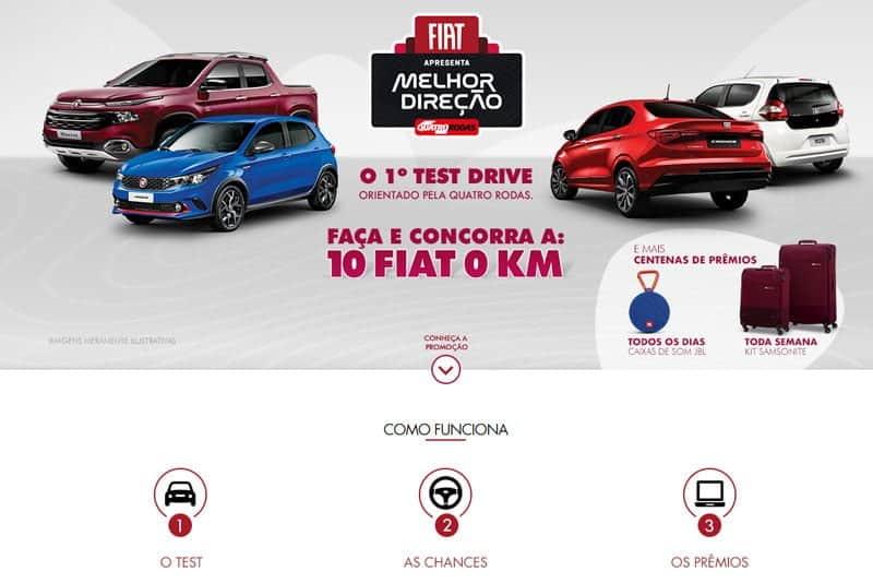 Promoção Fiat Melhor Direção Test Drive Premiado - Revista quatro Todas