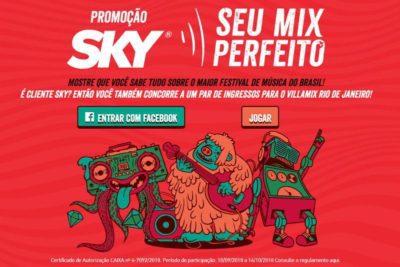 Promoção Sky 2018 Seu Mix Perfeito