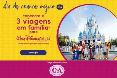 Promoção C&A - dia das crianças Disney