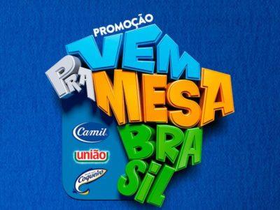 Promoção Camil, União e Coqueiro Vem Pra Mesa Brasil