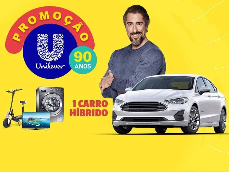 Promoção Unilever 90 anos sorteia um carro e centenas de prêmios.
