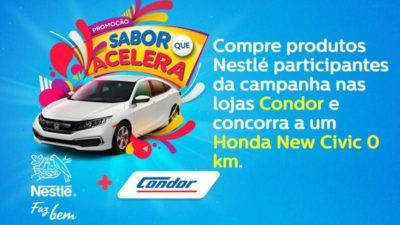 Promoção Supermercado Condor e Nestlé Sabor que acelera