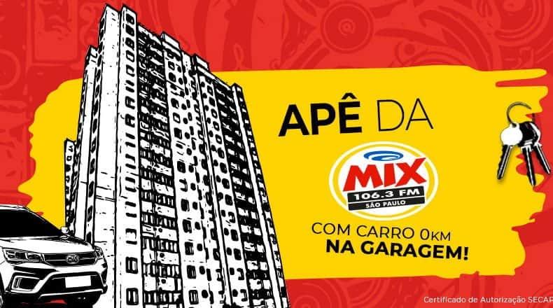 Promoção Apê da Mix FM: Concorra a um apartamento e a um carro zero