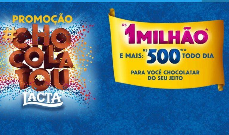 Cadastre-se na promoção Lacta Chocolatou e concorra a 1 milhão