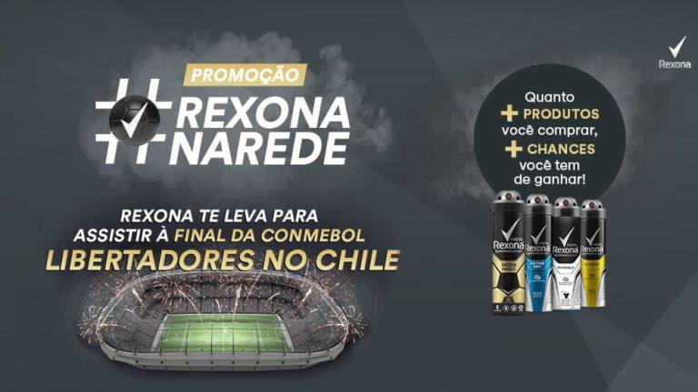 Promoção Rexona #na rede leva você para a final da Libertadores da América