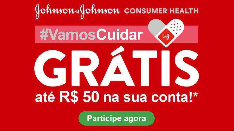Promoção Johnson & Johnson Vamos cuidar: Receba 50 reais sem sorteio