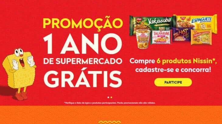 Promoção Nissin Um ano de Mercado Grátis
