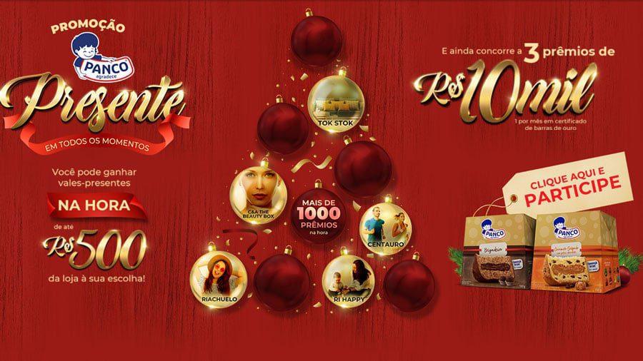 Promoção de Natal Panco 2020: Prêmios de até 10 mil