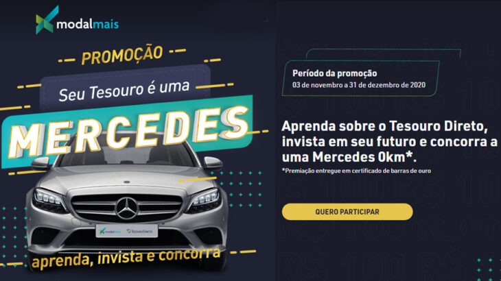 Promoção Modalmais Seu Tesouro é uma Mercedes