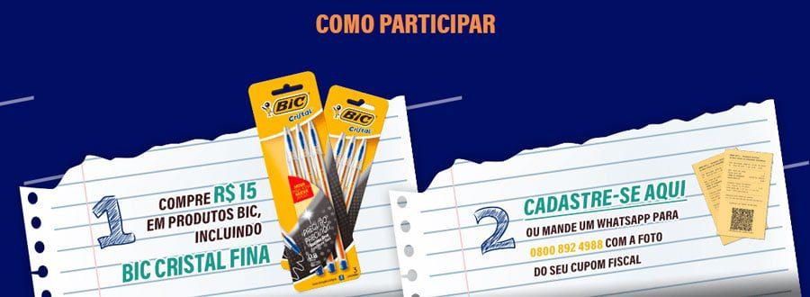 Produtos Promoção BIC Original: Concorra a prêmios de até 30 mil