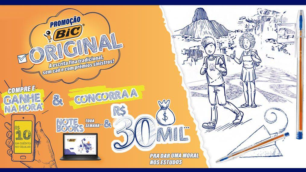 Promoção BIC Original: Concorra a prêmios de até 30 mil