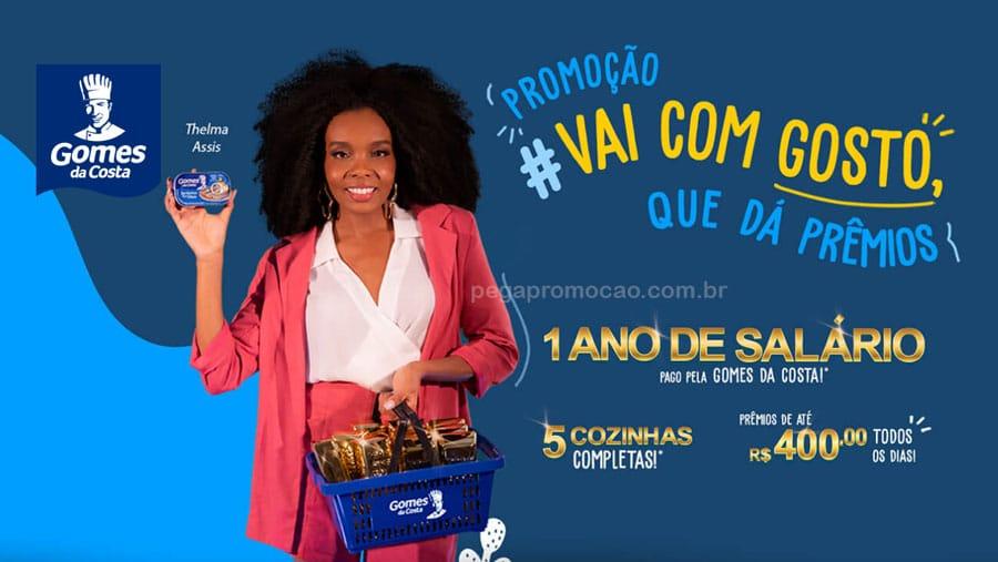 Promoção Gomes da Costa Vai com Gosto que da prêmios 2021