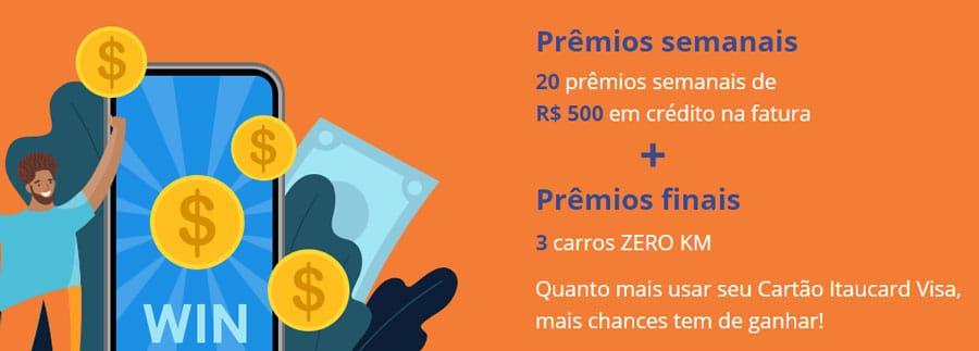 Como participar da Promoção Toda Compra é uma Chance Visa Itaucard