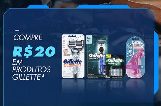 Produtos participantes Prêmios Promoção Gillette Legendary Setup