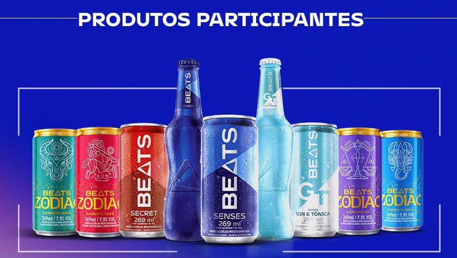 Produtos participantes Promoção Ilhados com Skol Beats