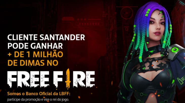 Promoção Santander Free Fire Um Milhão de Dimas