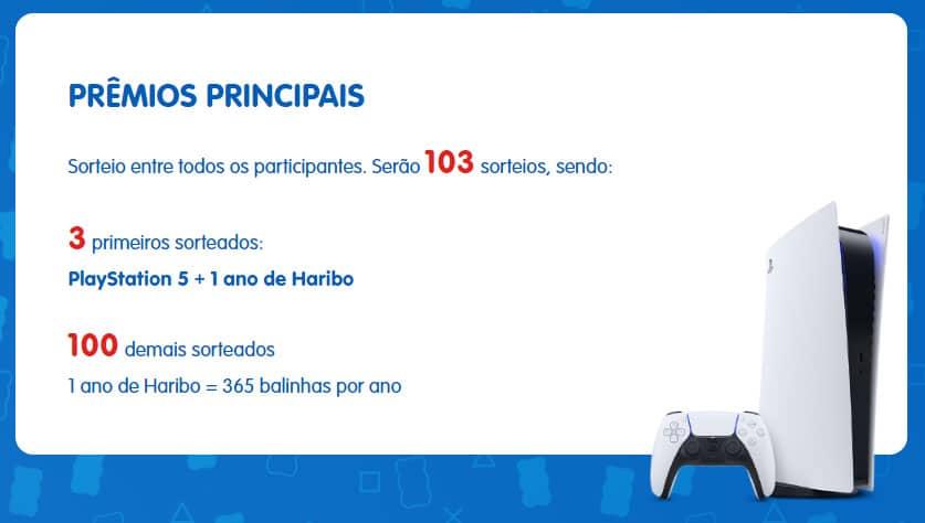 Prêmios Promoção Haribo Ursinhos da Sorte