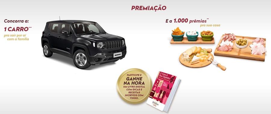Prêmios da Promoção Vinho Dom Bosco Toda Geração Pede