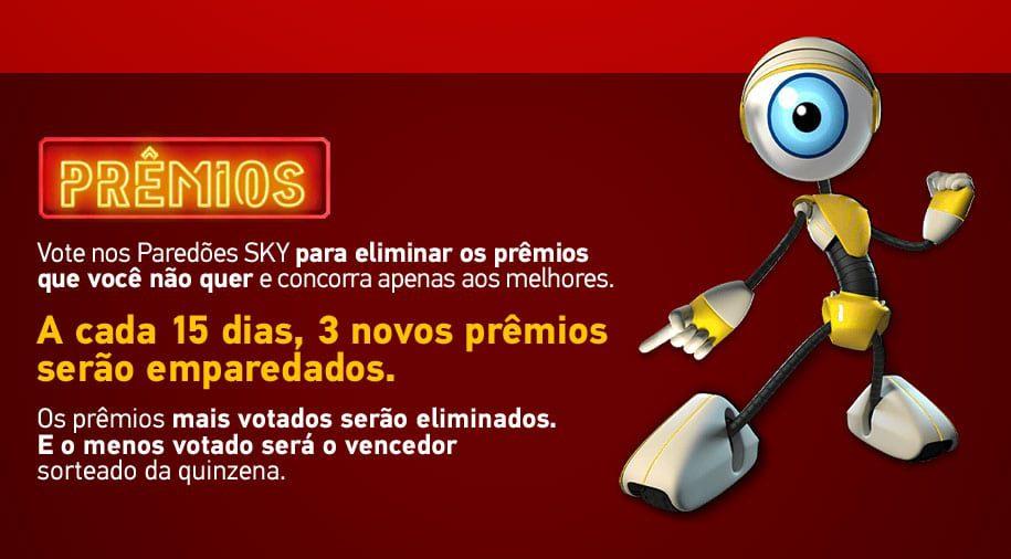 Prêmios Promoção Sky 2021 - Paredão de prêmios