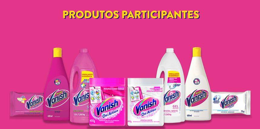 Produtos participantes Promoção Vanish