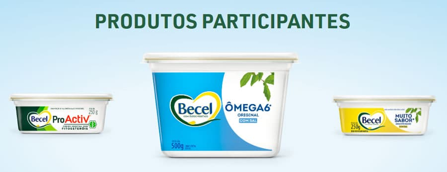 Produtos participantes promoção becel