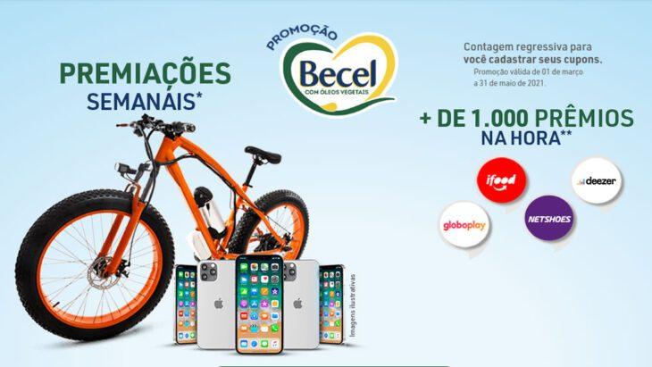 Promoção Becel 2021 - Sorteio de Iphones e Bicicletas Elétricas