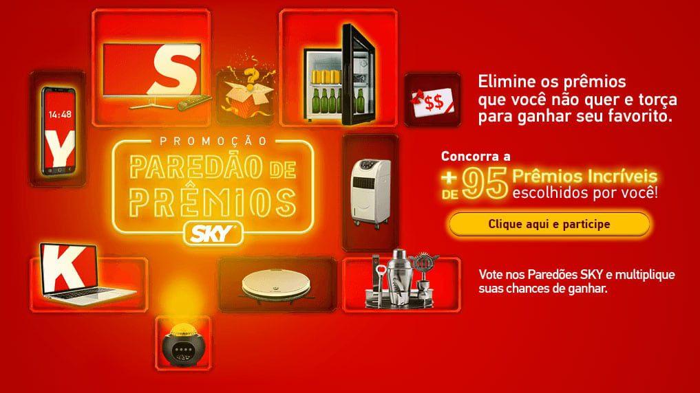 Promoção Sky 2021 - Paredão de prêmios