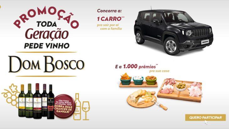 Promoção Vinho Dom Bosco Toda Geração Pede