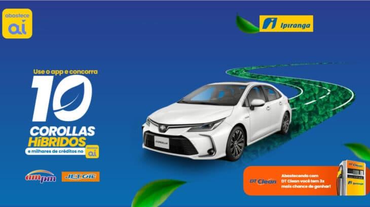 Promoção Ipiranga Use o App e concorra a 10 Corollas Hibridos
